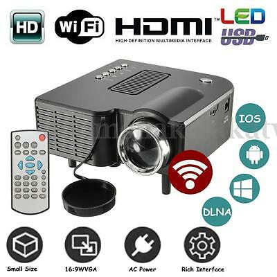 Portable Mini LED LCD Wired Projector HD 1080P Video Family Home Cinema Theater