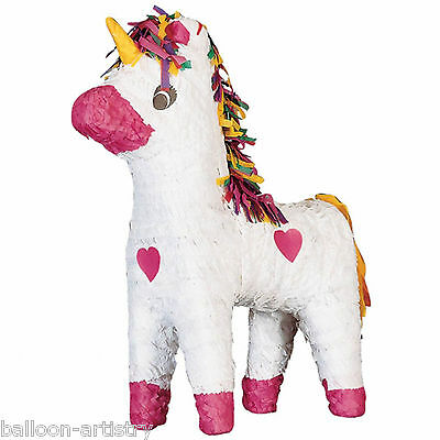 Fairytale Princess White Pink UNICORN BASH Pinata Party Game Decoration