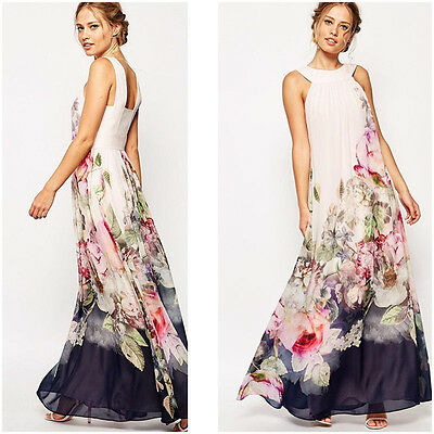 Pregnant Maternity Wedding Party Evening Maxi Dress Gown Long Prom Dress UK