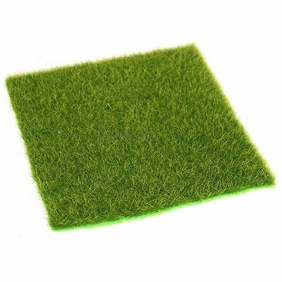 15cm Artificial Turf Grass Lawn Grass Plant Miniature Landscape Home Craft Decor