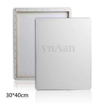 30cm*40cm Artist White Blank Stretched Square Canvas Art Painting Wooden Frame