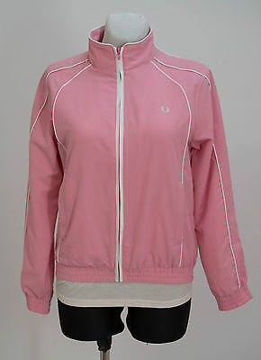 Girls Fred Perry Zip Jacket Sportwear Tracksuit Pink Size 14-15 Years Excellent