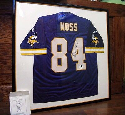 finest selection 9cb46 23fc8 RANDY MOSS 1998 Signed/Framed Rookie Minnesota Vikings Authentic Jersey