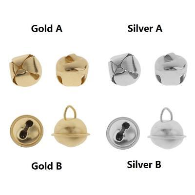 Silver/Gold Plated Jingle Bells Charm for Costume Bracelet DIY Crafts Xmas Decor