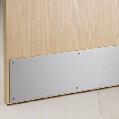 "(1) Ives 25810 8400 26D 8"" x 10"" Metal Door Protector Kick Plate SATIN CHROME"