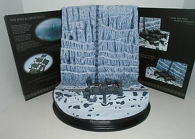 """GAME OF THRONES """"CASTLE BLACK AND THE WALL"""" Desktop sculpture NEW"""