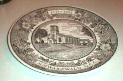 1962 Schwarzwald United Church of Christ Plate Kettlesprings Kilns Ohio 1125
