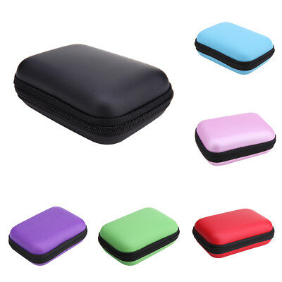 Carrying Storage Bag Pouch Hard Case for Earphone Headphone Earbud TF Card