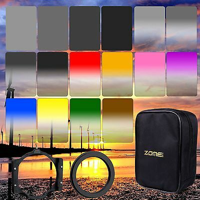 ZOMEI150*100mm ND2,4,8,16 Square Filters&Ring+Holder&16-Slots Case for Cokin Z