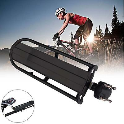 Black Alloy Extendable Mountain Bike Bicycle Seat Post Rear Rack Carrier MTB