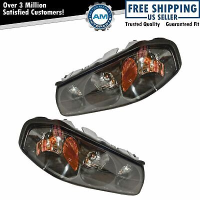 Headlights Headlamps Left & Right Pair Set for 00-04 Chevy Impala