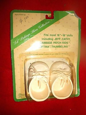"""1982 Sealed LIL PICKINGS WHITE SHOES For Cabbage Patch & Thumbelina Dolls 16-18"""""""