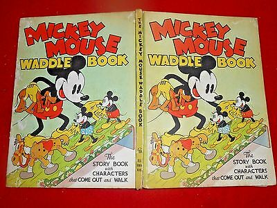 1934 Walt Disney's MICKEY MOUSE WADDLE BOOK with Instructions, no characters