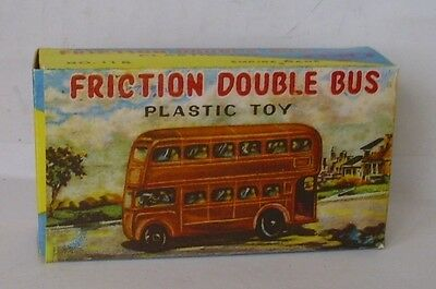 Repro Box Empire Made Plastic Toy Friction Double Bus