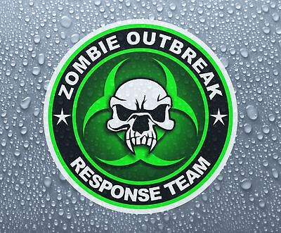 Zombie Biohazard #8 printed self-adhesive car window sticker - Large sizes