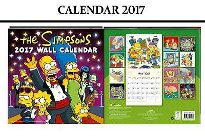The Simpsons Official 2017 Calendar + The Simpsons Fridge Magnet