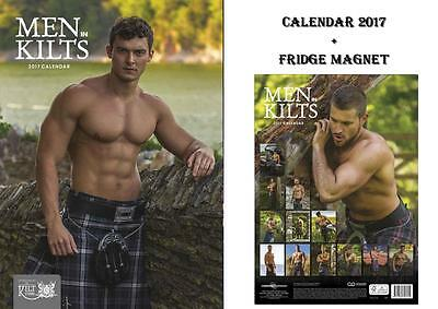 Men In Kilts Official 2017 Calendar + Men In Kilts Fridge Magnet