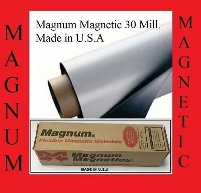 """Magnum Magnetic ®  30 Mil. Blank Made In Usa  24"""" Wide X 10 Feet Long"""