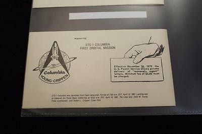 Space Nasa Local Post Private Express Mail Booklet #6 Sts-1 Columbia (B-C)