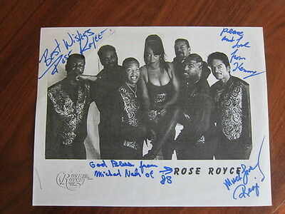 ROSE ROYCE Paper  AUTOGRAPHED disco