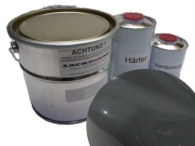 5 Liter Set 2K Car paint VW/Audi LY7C Nardo gray no clear coat Lackpoint Tuning