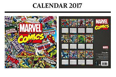 Marvel Comics Classic Official 2017 Calendar + Marvel Fridge Magnet