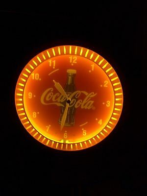 Vintage  Image  Time  Inc. Coca Cola Neon  Clock