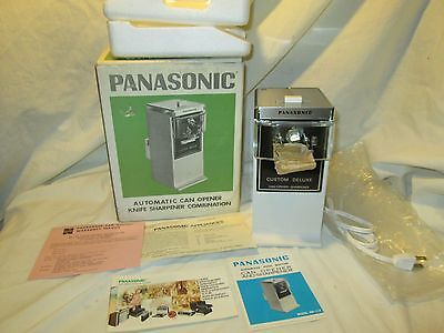 Vintage 1970 Panasonic MK-112 New In Box Electric Can Opener Knife Sharpener Wht