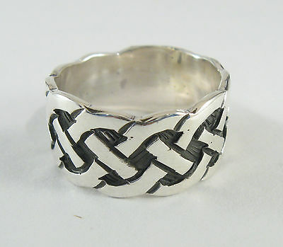 R001462 SOLID STERLING SILVER RING 925 CELTIC KNOT BAND