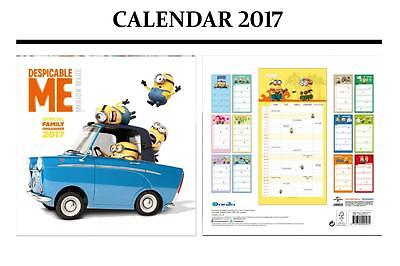 Despicable Me Minions Family Planner Official Calendar 2017 + Minions Magnet