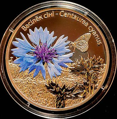 2012 Belarus Flower Series .925 20g Silver Coin with coa