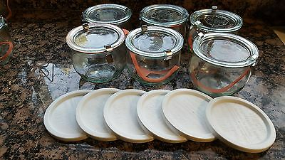 RUNDRAND Glas 100 Weck  Canning Jar  SET of 6  SHIPS IN 1 DAY