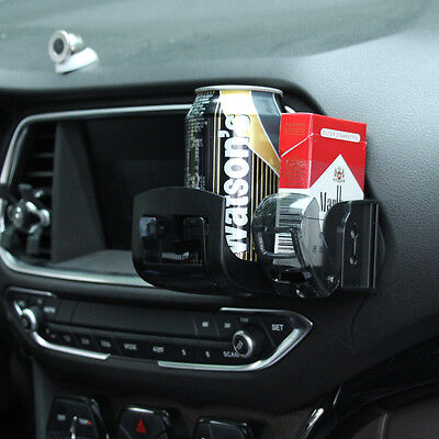 Seat Car Drink Cup Holder Valet Travel Drink Cup Coffee Bottle Table Stand Black