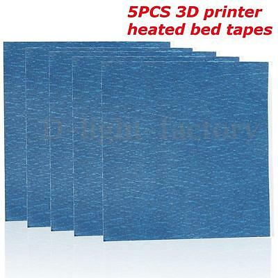5x 200x210mm 3D Printer Heated Bed Blue High Temperature Tape Masking Adhesive