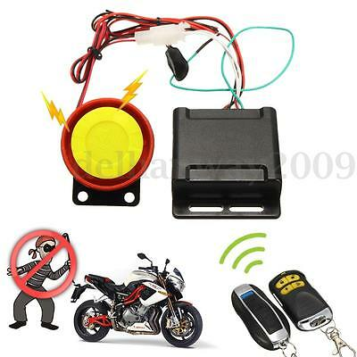 Motorcycle Scooter Anti-theft Security Alarm Immobiliser Keyless Entry System