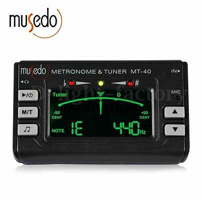 Mini Clip On Tuner & Metronome For Chromatic, Guitar, Bass, Violin and Ukulele N