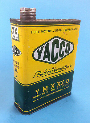 Vintage YACCO 2 litres  Oil can Extra Motor Auto Gas Service Station Tin Can