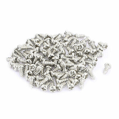 100pcs M2.5 x 6mm Stainless Steel Phillips Pan Round Head Self Tapping Screws