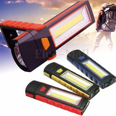 COB LED Magnetic Inspection Work Light Camping Lamp Tent Flashlight Hand Torch
