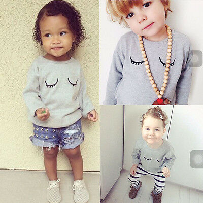 Casual Baby Boys Eye Long Sleeve Top T-shirt Long Pants Outfits Set Clothes 0~3T