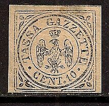 Italy Modena 1859 Coat Of Arms Signed Sc # Pr5 Mhng