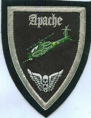 Boeing Apache Attack Helicopter Army Pilot Battle Black Wing Crew Night Patch Op