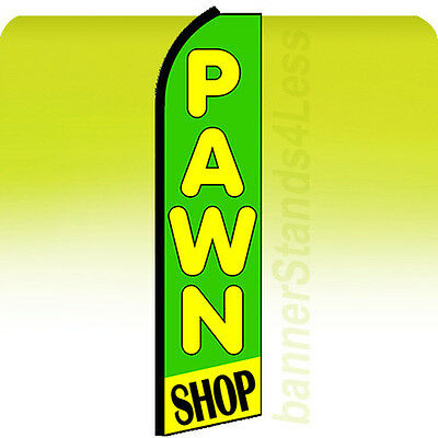 CASH FOR GOLD Pawn Flag Tall Curved Top Flutter Feather Bow Swooper Banner Sign