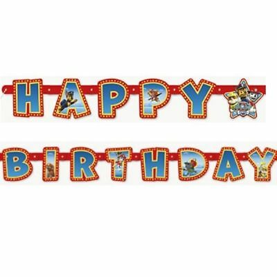 "PAW PATROL ""Happy Birthday"" Jointed BANNER DECORATIONS Party Supplies Décor Prop"