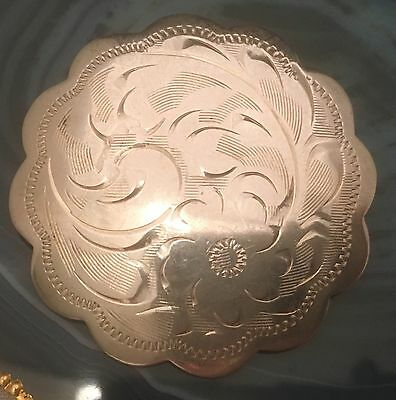 STUNNING Vintage Hand Chased 925 Sterling Silver Brooch/Pin Hallmarked -L248