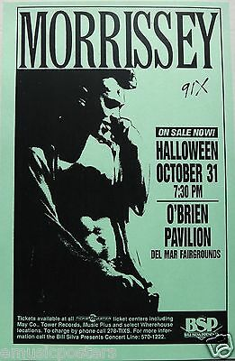 """Morrissey 1992 """"your Arsenal Tour"""" San Diego Concert Poster-The Smiths, New Wave"""