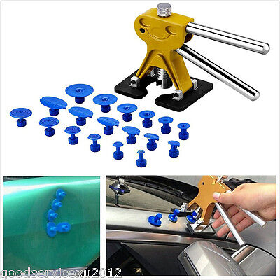 DIY Car Lifter Type Exterior Paintless Dent Puller Hail Repair Tool &18 Glue Tab