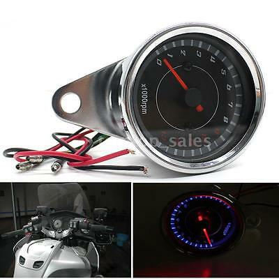 13K RPM Stainless Steel Motorcycle Tachometer Tach LED Backlight & Shift X1R0