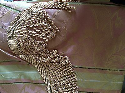 2Sets(4) BNIP JACQUARD Pink/Gold CURTAINS (new)