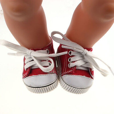 1set Doll red sport shoes for 43cm Baby Born zapf (only sell clothes ) B678